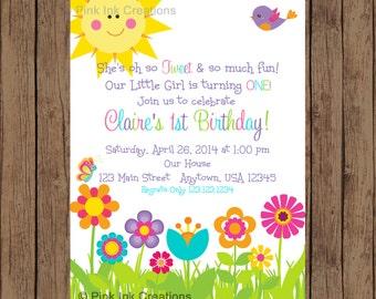 GARDEN Party Invitation / Garden Birthday Invitation / Spring Birthday Invitation / Spring Invitation / Flower Garden Invitation / PRINTABLE