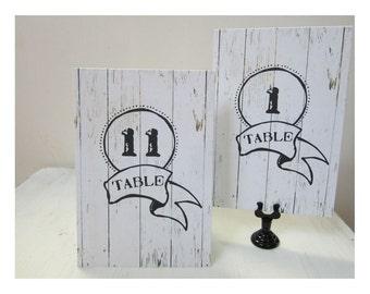 Wedding Table Numbers, Country Table Numbers, Western  Wedding