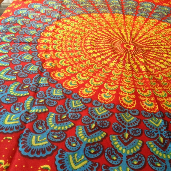 Hippie Tapestry Fabric Colorful Bohemian by ...