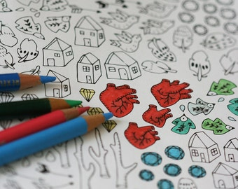 Colour In Collaboration No. 1 - Printable Colour In Pages