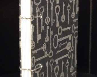KEYS - Hand Bound Blank Journal/Sketch Book