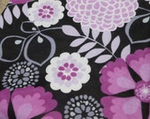 Purple Floral Baby Blanket