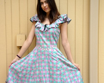 Vintage early 40s cotton dress