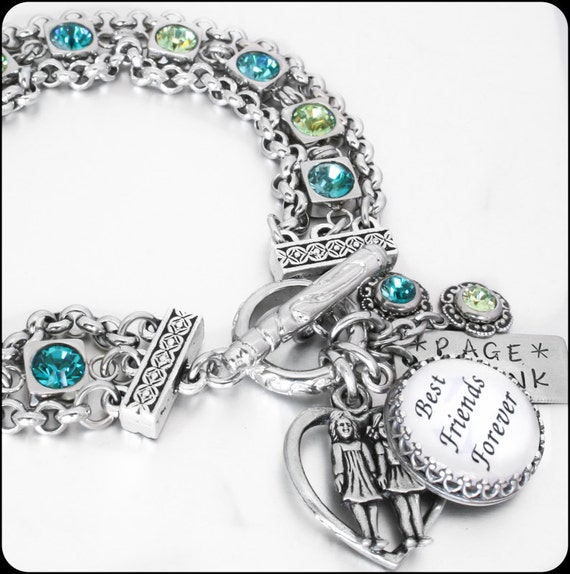 Best Friend Charm Bracelet: The Ultimate Best Friends Charm Bracelet By BlackberryDesigns