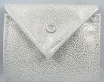 Leather Wallet - White Pearl