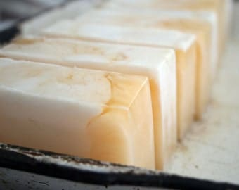 Olive Oil Bar Soap Apricot Creme with Shea Butter Vegan