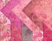 Buy 1 Get 1 FREE French Rouge - Shabby Vintage Digital Paper Pack - Scrapbooking - Instant DOWNLOAD