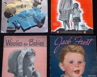 Crochet and Knit Woolies for Children and Babies Vintage 1950s