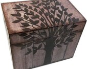 Recipe Box, Decorative Box, Couples Gift, Bridal Shower, Bridal Gift, Decorative Box, Rustic Tree Wedding, Holds 5x7 Cards, MADE TO ORDER