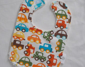Ready, Set, Go Cars and Chenille Bib