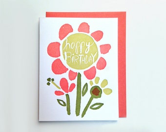 Birthday Flower Card