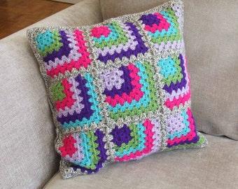 Pop Mitred Corners Crochet Cushion Cover