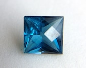 Stunning 1.81ct Square Checkerboard Cut London Blue Topaz, Natural Gemstone