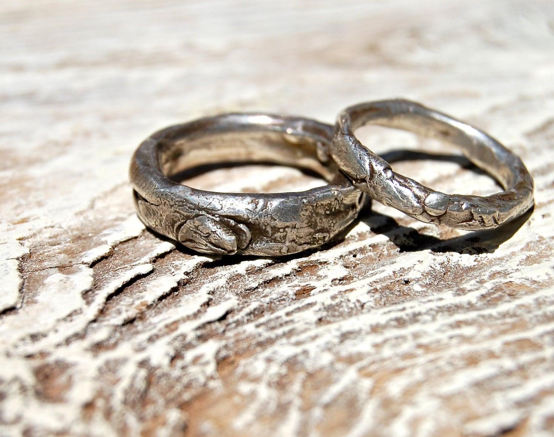 Wedding Rings Set MANUS Artisan Simple By Codysanantonio On Etsy