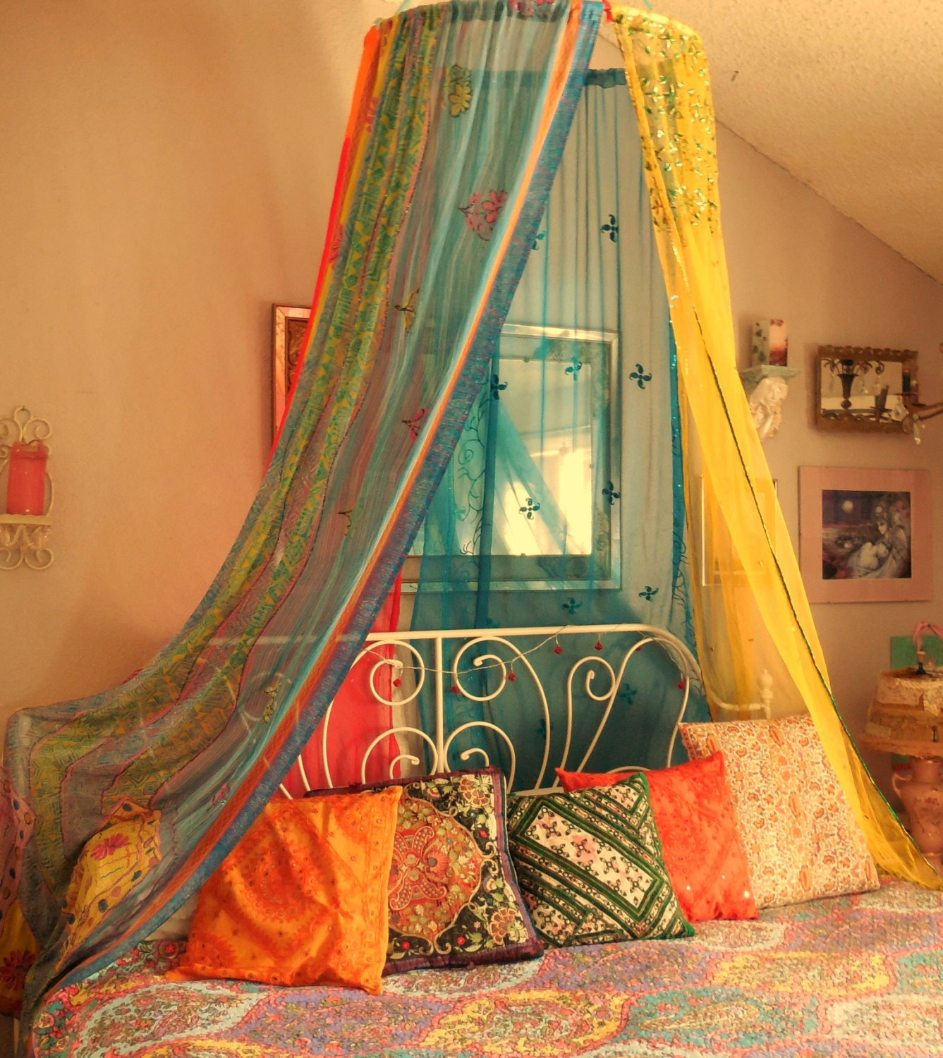 Bohemian Gypsy Bed Canopy