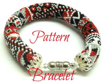 Bracelet  Crocheted  Beads Rope  pattern Tutorial  for personal use only