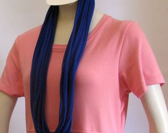 Blue Jersey Infinity Scarf Handmade by Fashion Green T Bags
