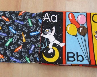 Retro ABCs Fabric Book