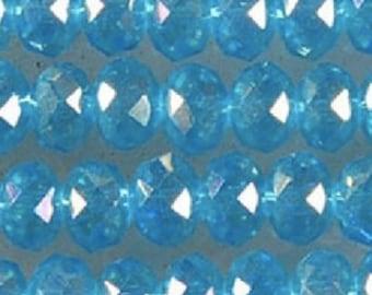 6 mm clear glass crystal beads    blue   quantity twenty 20  SEW300      w