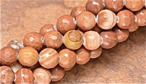 Red Malachite Stone : Red malachite gemstone faceted round beads jewelry