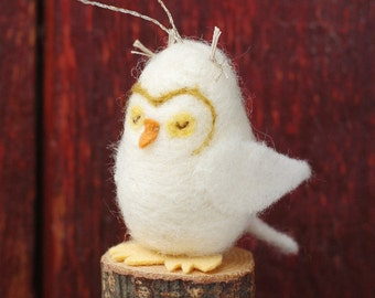 Owl Ornament - Needle Felted Christmas Ornament