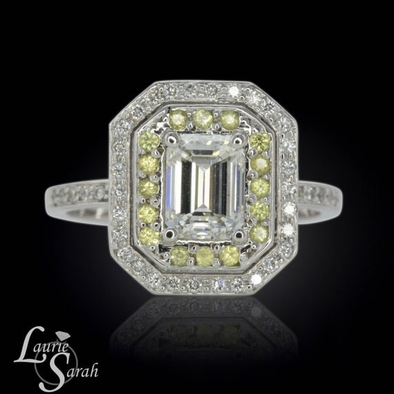 emerald cut engagement ring by lauriesarahdesigns