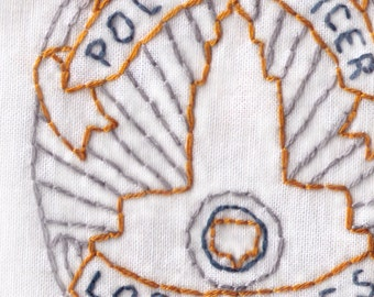 LAPD Badge Hand Embroidery Pattern