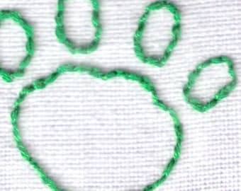 Paw Print Hand Embroidery Pattern