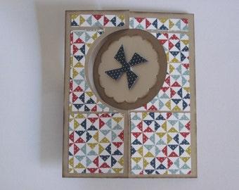 Circle Swing Card Get Well Handmade Pinwheels