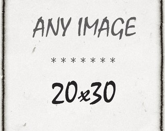 You Choose ANY 8x12 or 16x24 Photo as a 20x30 On Metallic Paper