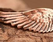 Angel Wing Bracelet Link with Loop in Copper Rose Bronze, 210Ac