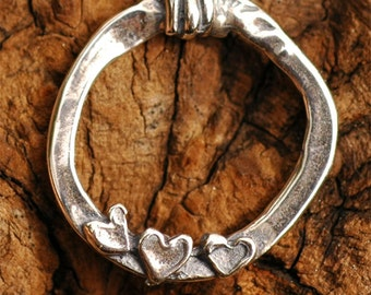 One Artisan 3 Hearts Link in Sterling Silver L-43
