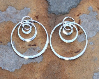 Sterling Silver Three Circle Dangle - 22x18.3mm - Pick Your Own Bulk Price