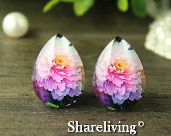4pcs 18x25mm Handmade Photo Teardrop Glass Cabs Cabochons -- BCH969V