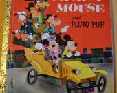 Vintage Children's Book Mickey Mouse and Pluto Pup Little Golden Book