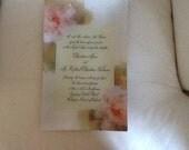 Custom Order Decoupage Wedding Invitation Plate For Carolina Mary