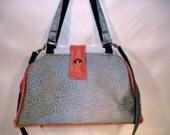 Bella Tapestry Knitting/Crochet Handbag/Tapestry tote purse/ Women's handmade handbag/-PEWTER PUNCH