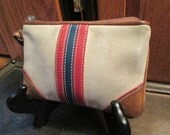 Vintage Coach wristlet in canvas and leather