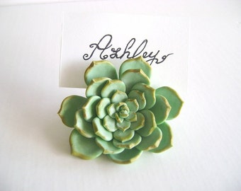 Wedding Succulent Place Card Holder Wedding Favor Flower Place Card Escort Card wedding decorationSet of 10 Made to Order
