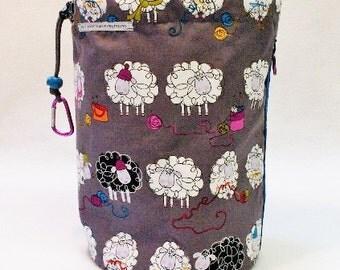 XL Knit Sack in Gray Sheep Knit