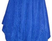 Royal Blue/Royal Blue Fleece Cape/Hooded Wrap/Shawl/Winter/Fall/Spring