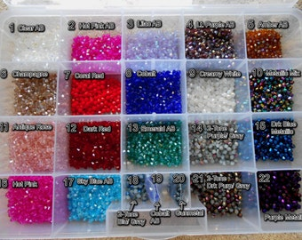 4mm Chinese Glass Crystal Bicones 50pcs