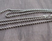 18 inch Sterling Silver 1.5 mm  Bead Ball chain