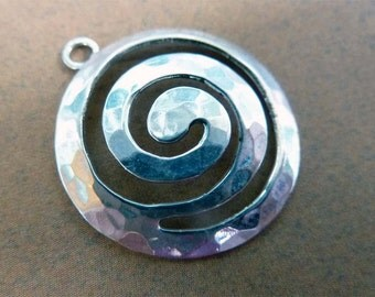 sterling silver infinity pendant pendant depiciting the