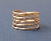 Spiral Ring (14k gold filled)