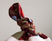 SALE save 40%, Organic Knotty Hat in EVENING; Organic Woodland Animals Maroon Newborn Baby Cap by Organic Quilt Company