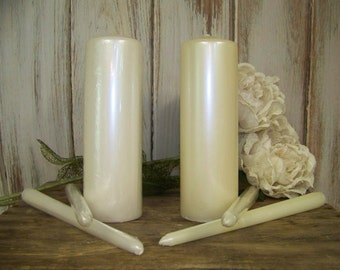 Unity Candles, Wedding Unity Candles, Wedding Decor, 3 Wedding Candles for Candleholders
