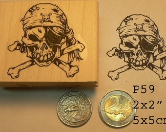 P59 Pirate rubber stamp