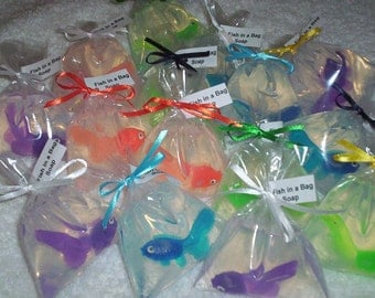 Fish in a Bag soaps 50  Wedding favors