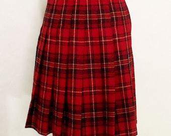 30% OFF Vintage 60s Tartan Scottish plaids full skirt